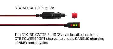 CTX indicator PLUG 12V